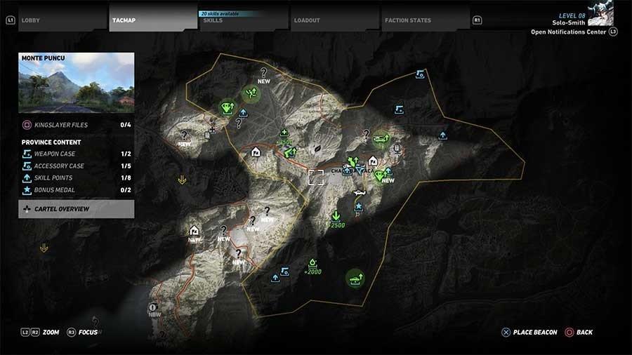 Monte Puncu Region Rebel Ops Map