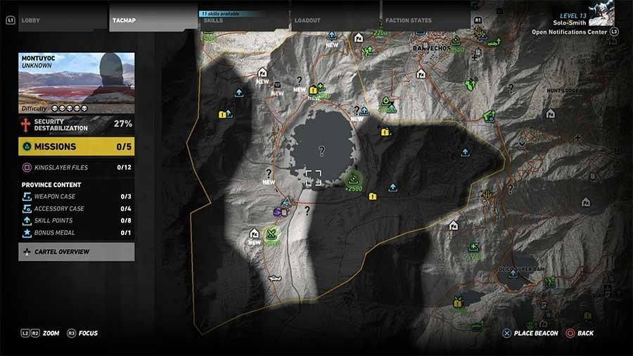 Montuyoc Region Supplies Map