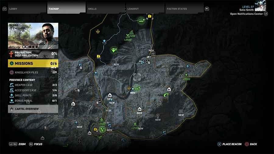 Ocoro Region Rebel Ops Map