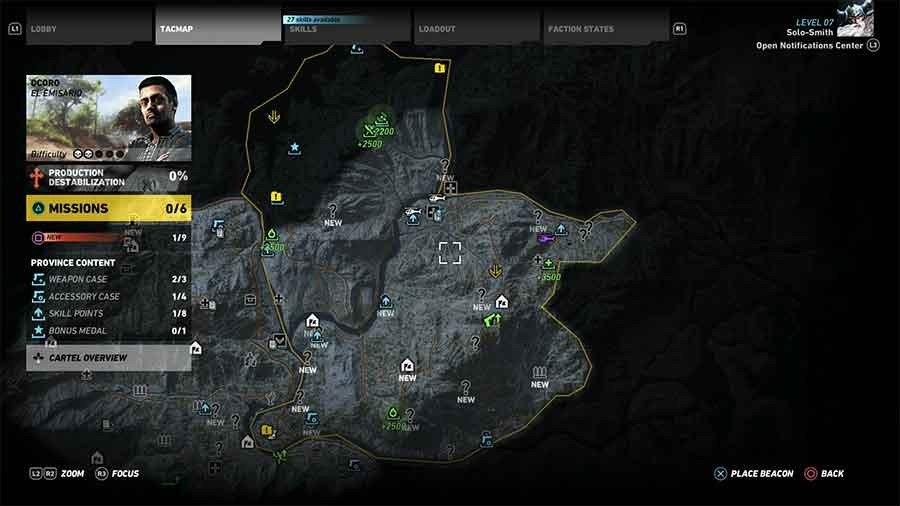 Ocoro Region Supplies Map