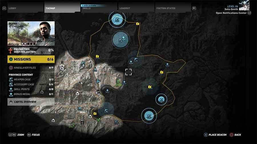Ocoro Region Weapon Case & Accessory Map