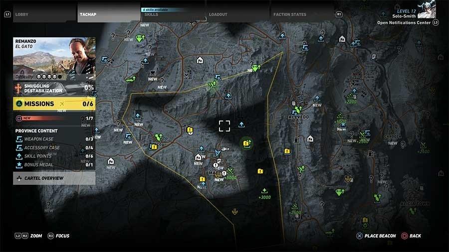 Remanzo Region Rebel Ops Map