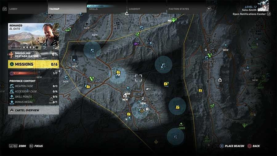 Remanzo Region Weapon Case & Accessory Map