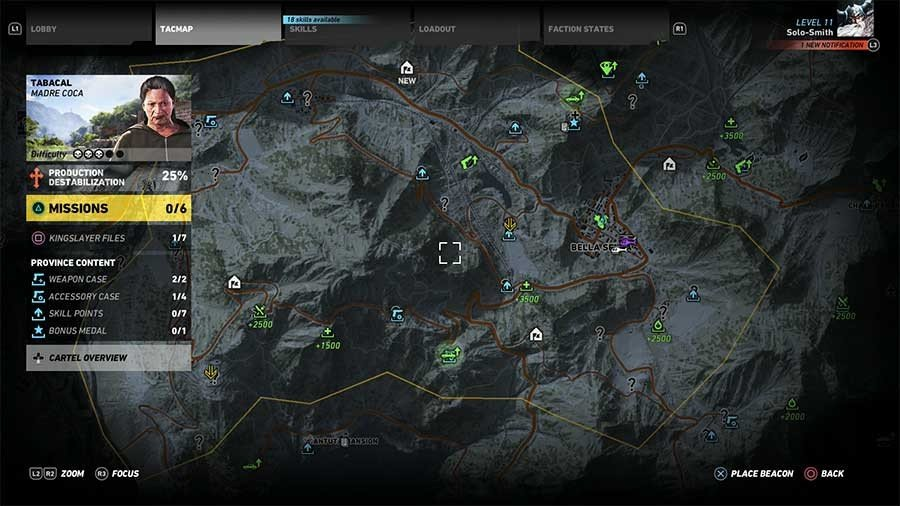 Tabacal Region Rebel Ops Map