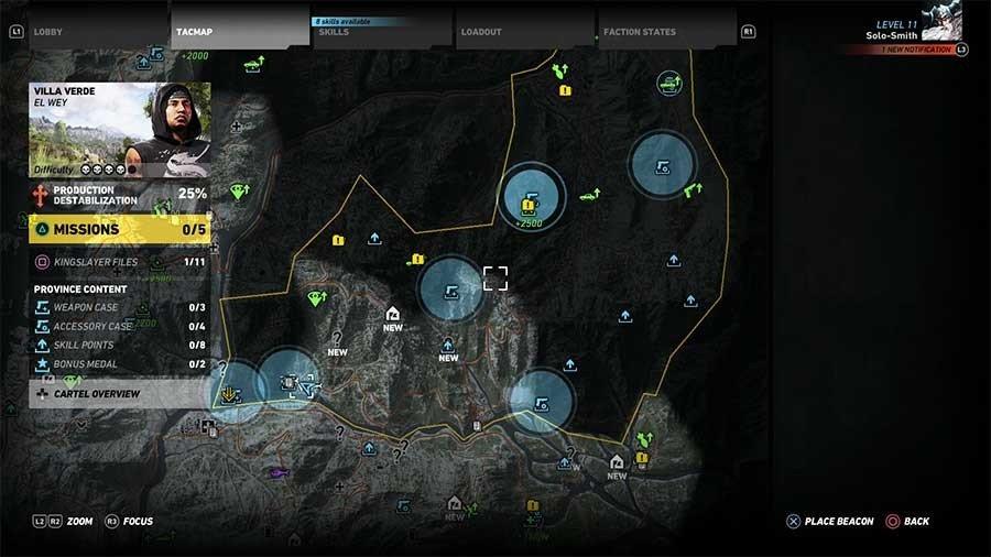 Villa Verde Region Weapon Case & Accessory Map