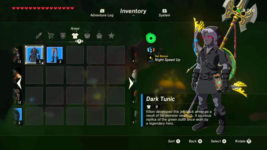 Where To Get The Dark Link Outfit In Zelda Breath Of The Wild