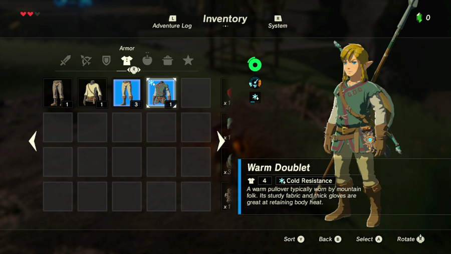 Zelda Breath Of The Wild - Where To Find Cold Resistance Gear