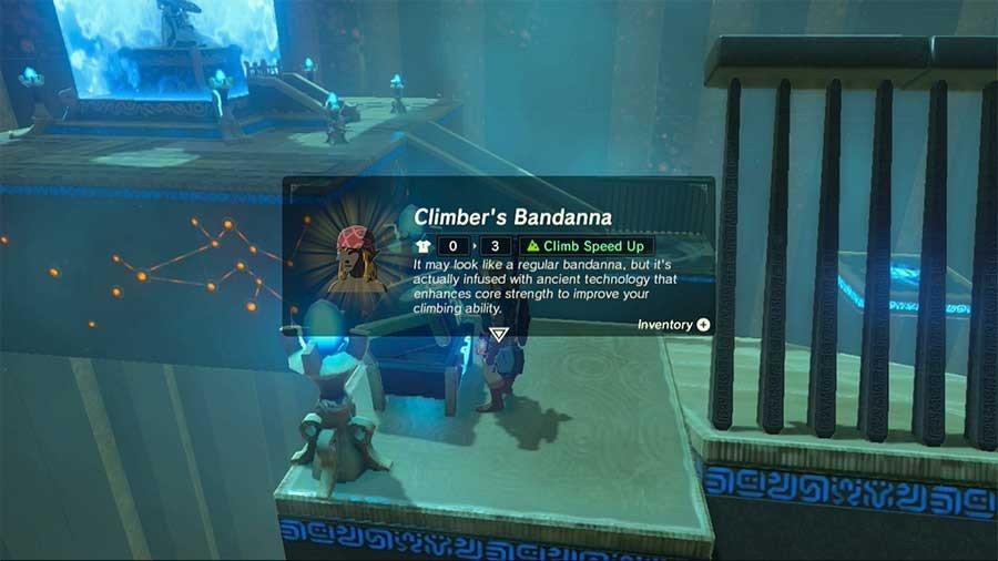 Zelda Breath Of The Wild Rare Armor & Weapon Guide Climbers Bandanna