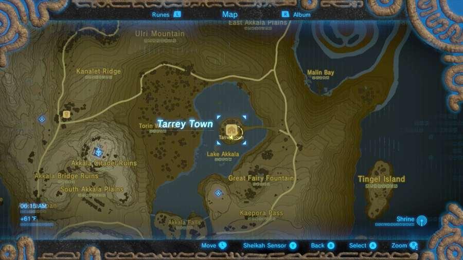 Zelda Breath Of The Wild Tarrey Town