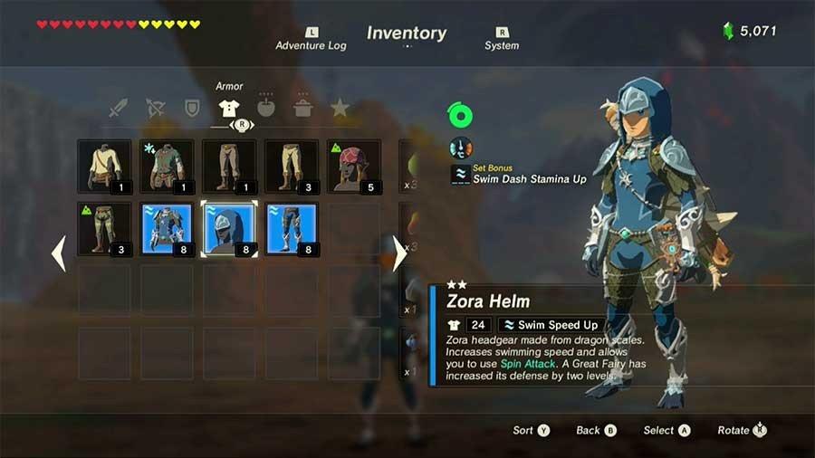 Zora Armor Set Bonus
