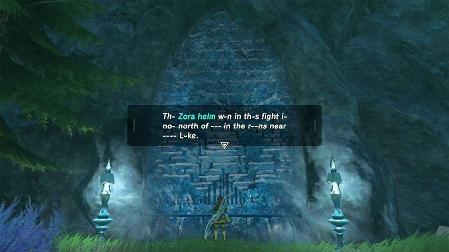 Where To Find Zora's Helm In Zelda Breath Of The Wild
