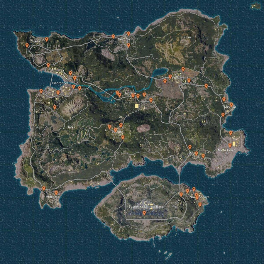 Where To Find Vehicles - Player Unknown Battlegrounds Vehicle Location Map