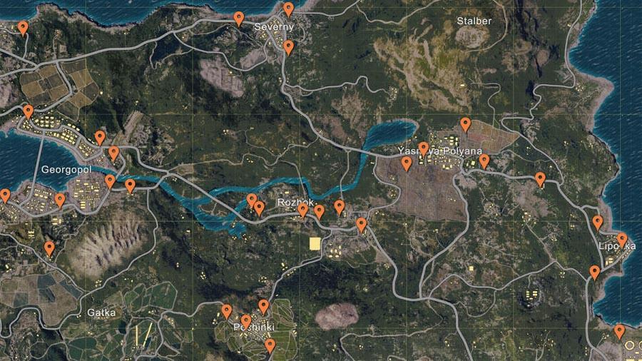 Playerunknown S Battlegrounds Map Guide Find The Best: Player Unknown Battlegrounds