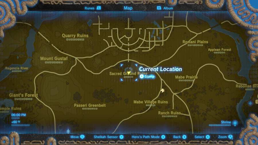 Breath Of The Wild Phantom Armor Set Location 2