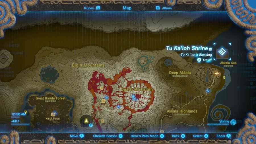Breath Of The Wild Travel Medallion Location