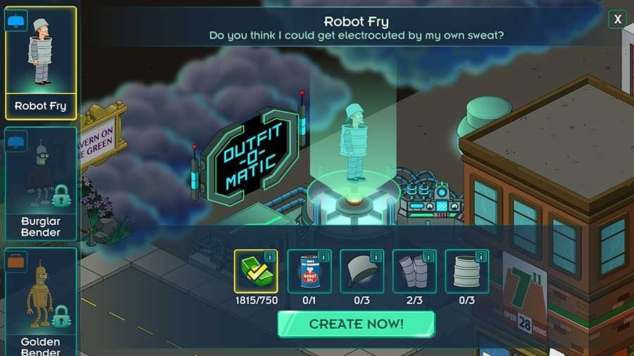 Futurama Worlds Of Tomorrow Costume Outfit Unlock Guide