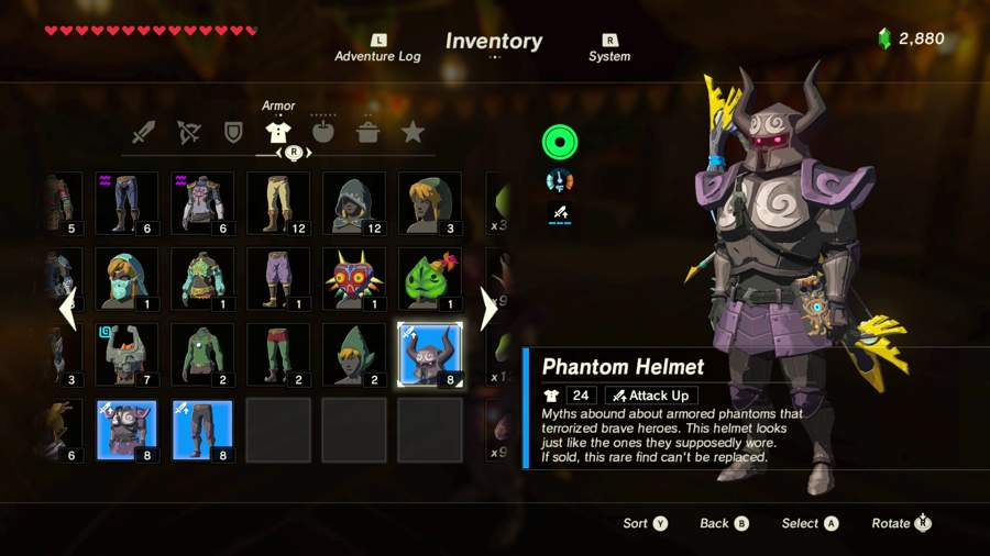 Where To Find The Phantom Armor Set In Zelda Breath Of The Wild