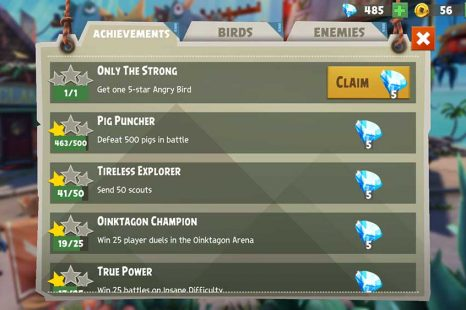 Where To Get Achievement Rewards In Angry Birds Evolution