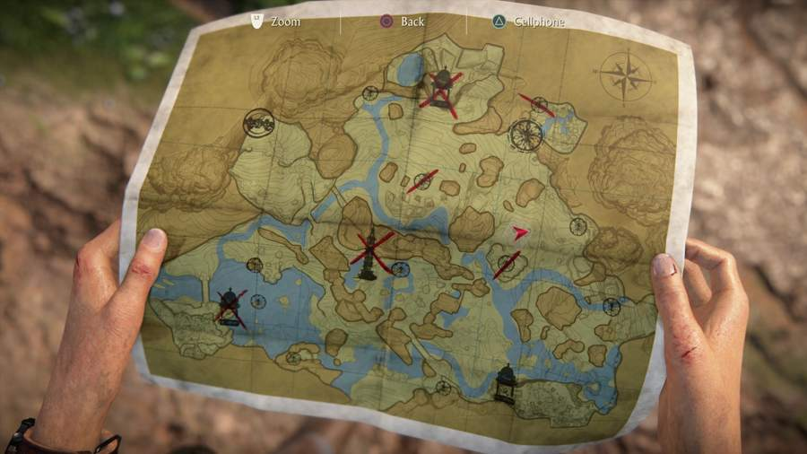Uncharted The Lost Legacy Chapter 4 Token Locations Map