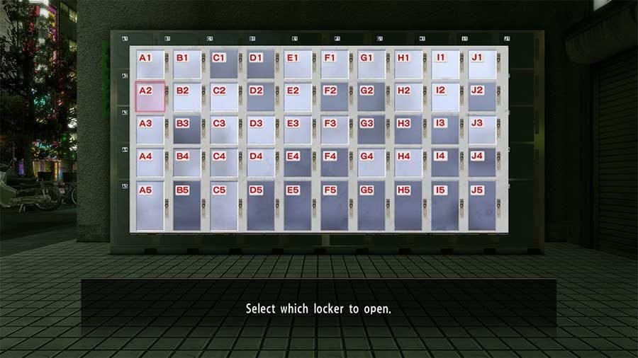 Yakuza Kiwami Coin Locker Key Location Guide