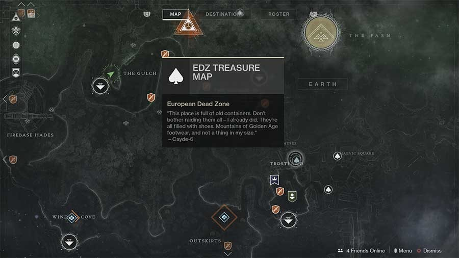 destiny 2 - edz treasure map hunt guide