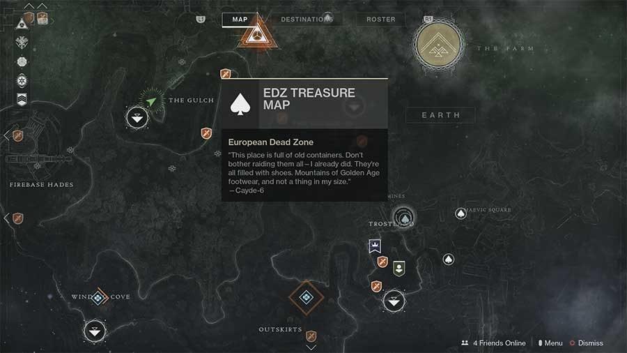 Destiny 2 - EDZ Treasure Map Hunt Guide