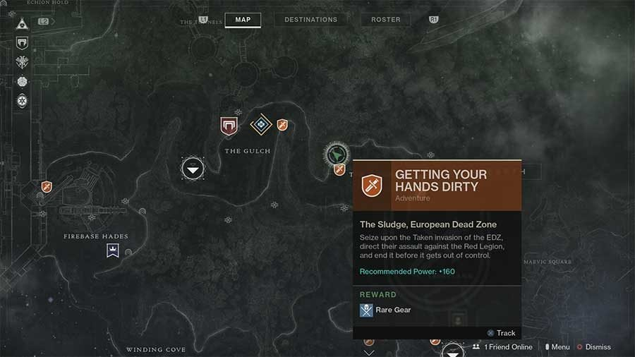 Earth Lost Sector 13 - Hallowed Grove Map