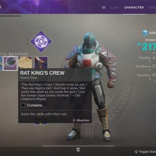 How To Get Rat King Exotic Sidearm In Destiny 2