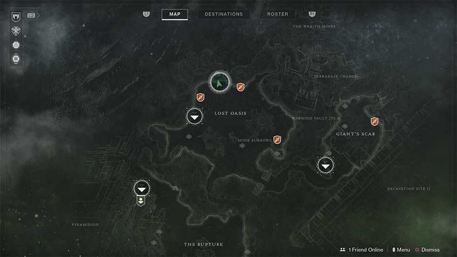 Io Lost Sector 1 - Grove Of Ulan-Tan Map