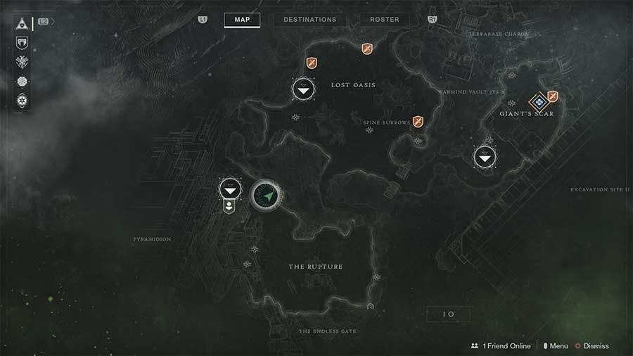 Io Lost Sector 2 - Sanctum Of Bones Map