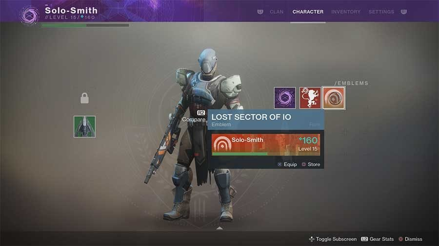 Lost Sector Of Io Emblem