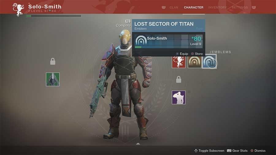 Lost Sector Of Titan Emblem