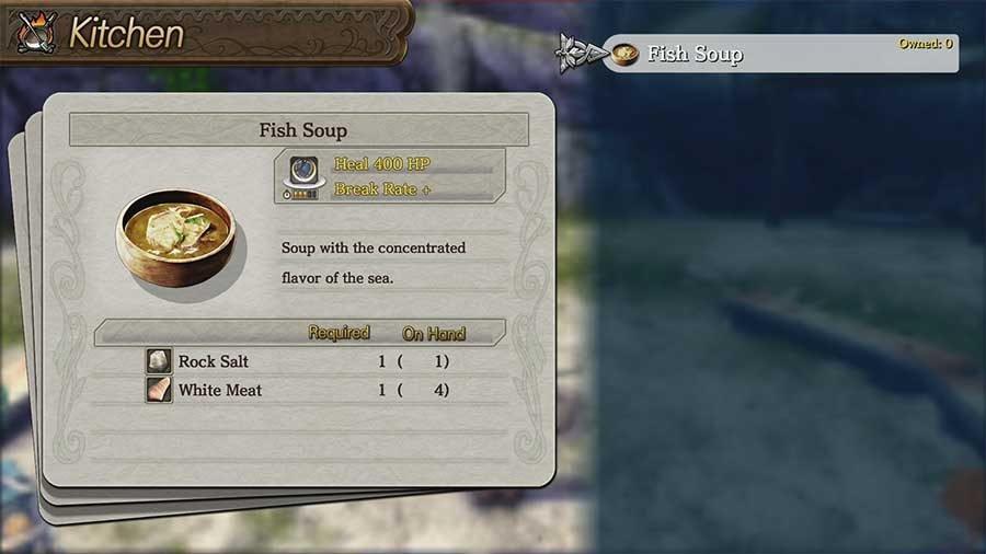 Ys 8 Lacrimosa Of Dana Meal & Recipe Book Guide - Fish Soup