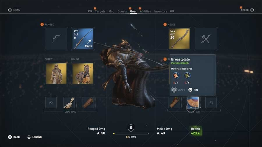 Assassins Creed Origins Crafting Upgrade Guide
