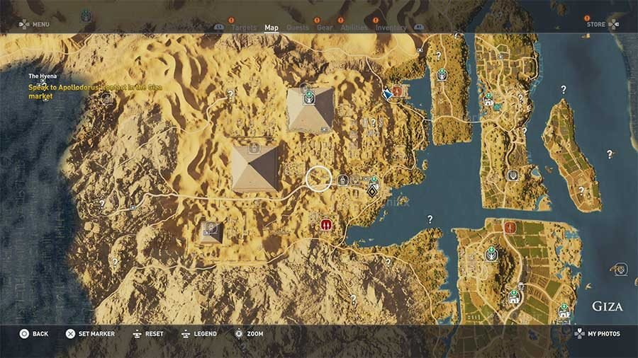 Giza Region Side Quests