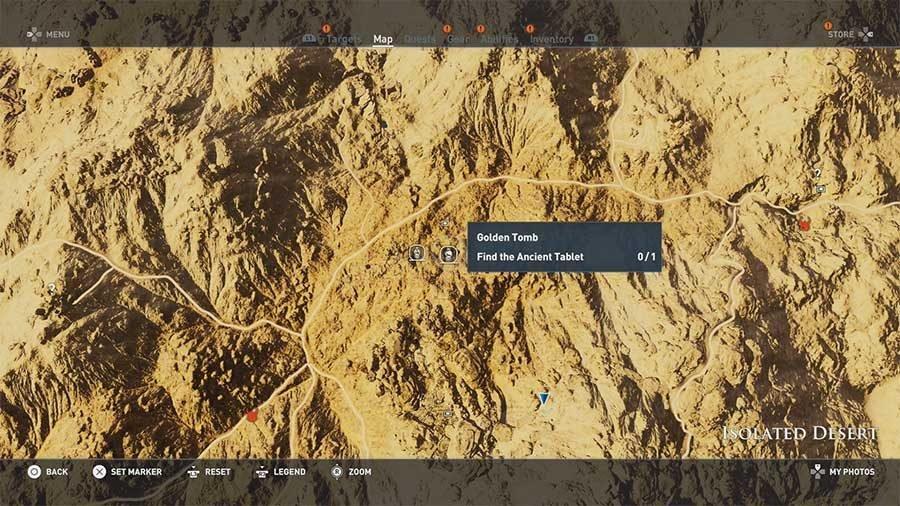 Isolated Desert - Golden Tomb