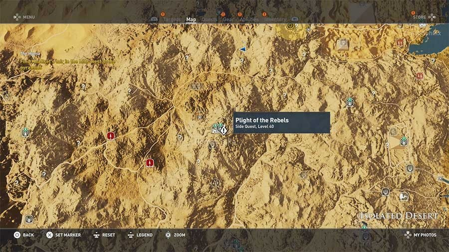 Isolated Desert Region Side Quests