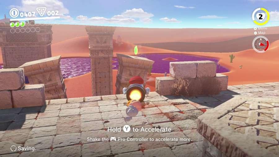 Mario On The Leaning Pillar