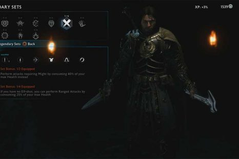 Middle Earth: Shadow Of War Legendary Sets Equipment Guide