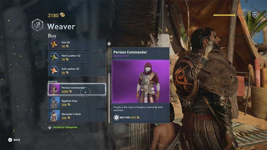 assassins creed origins isu armor quest