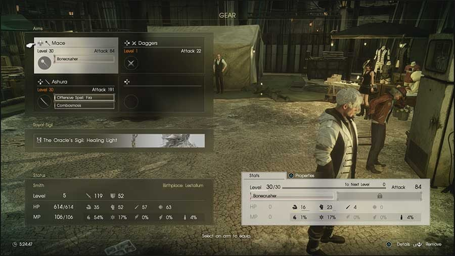 Final Fantasy XV: Comrades Stats Explained Guide