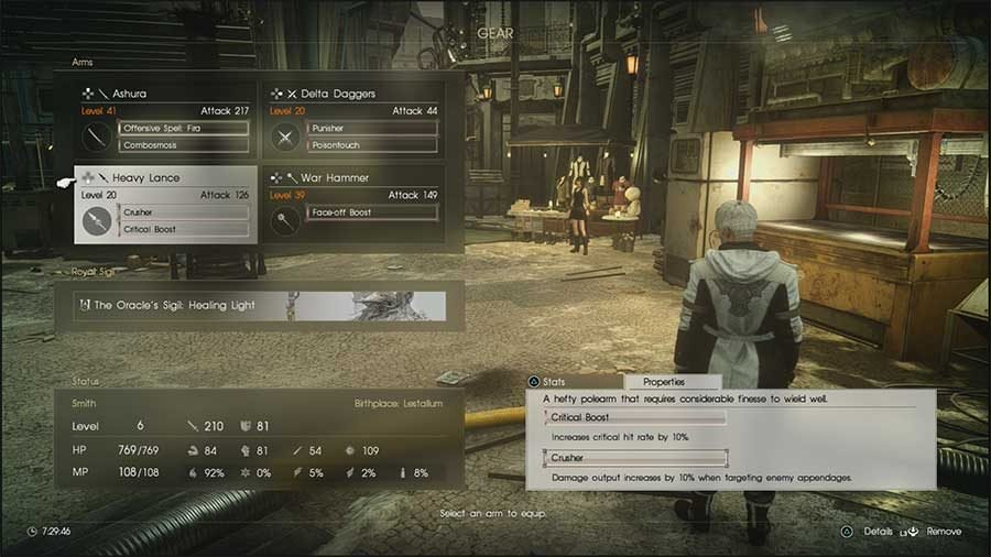 Final Fantasy XV: Comrades Weapon Effects Guide