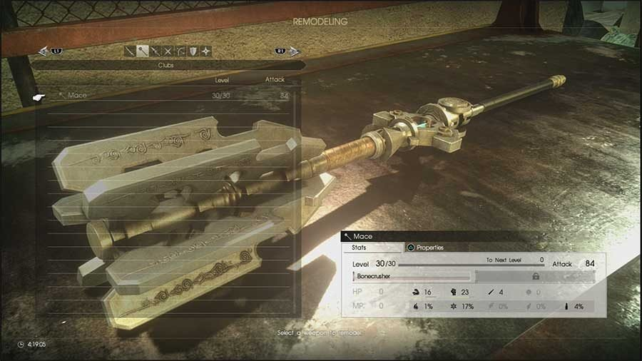 Final Fantasy XV Comrades Weapon Remodeling Guide