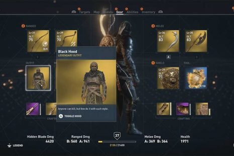 How To Get Black Hood Legendary Outfit In Assassins Creed Origins