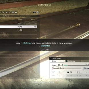 How To Remodel The Katana Quickly In Final Fantasy XV: Comrades