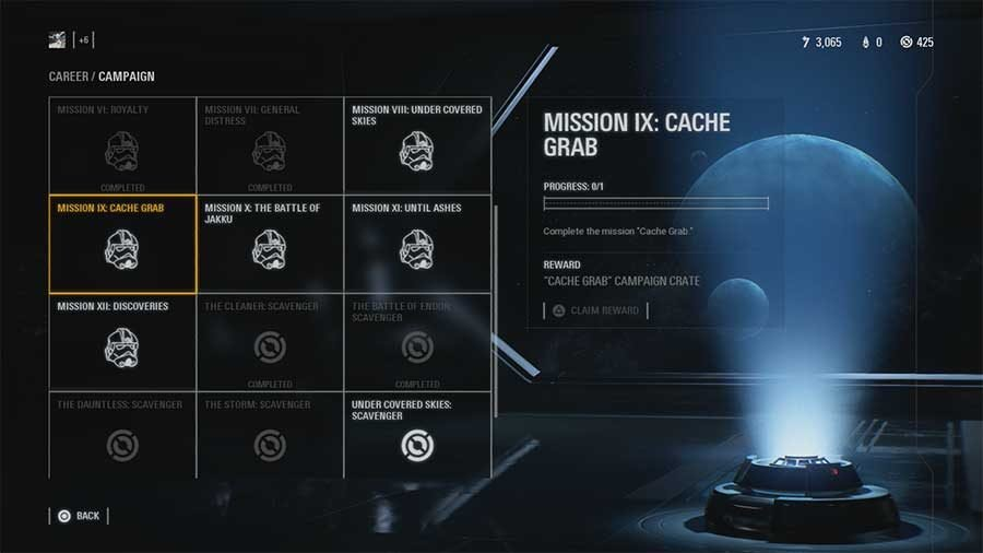 Star Wars Battlefront 2 What's In Cache Grab Campaign Crate