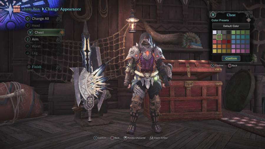 How To Change Armor Color In Monster Hunter World