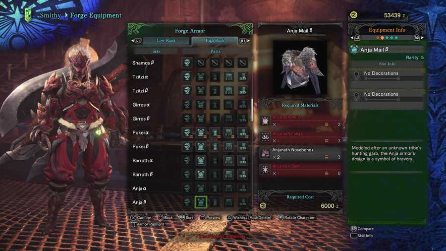 How To Get The Anjanath Gem In Monster Hunter World