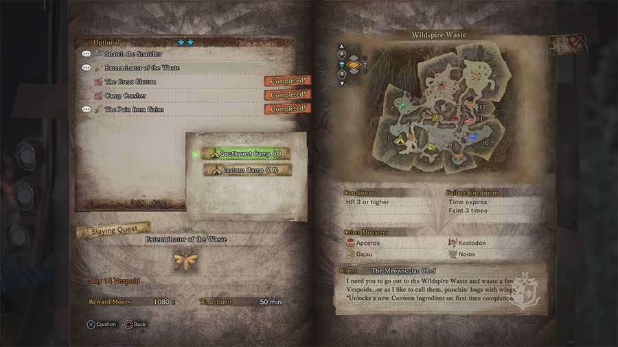How To Unlock More Meal Recipes In Monster Hunter World
