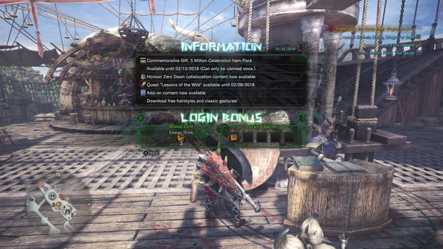 Where To Claim Your 5 Million Celebration Pack In Monster Hunter World